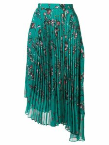 Markus Lupfer asymmetric pleated skirt - Green