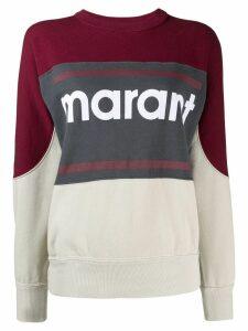 Isabel Marant panelled logo print sweatshirt - Red