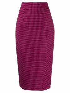 Alberto Biani houndstooth-print fitted pencil skirt - Pink