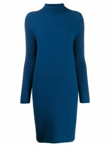 Antonelli roll neck knit dress - Blue