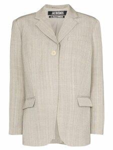 Jacquemus Moyo boxy blazer - Grey