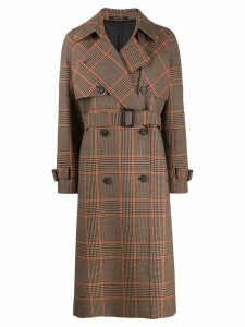 Tagliatore check double-breasted coat - NEUTRALS