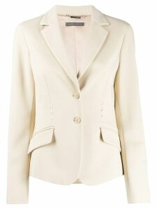 Alberta Ferretti single-breasted fitted blazer - NEUTRALS