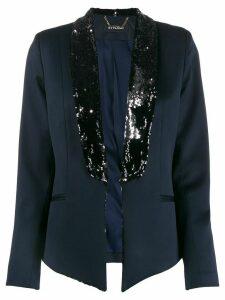 Styland contrast-lapel embellished blazer - Blue