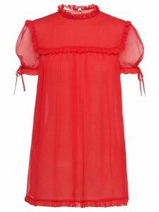 Miu Miu ruffle trim blouse - Red