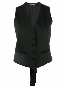 Styland slim-fit waistcoat - Black