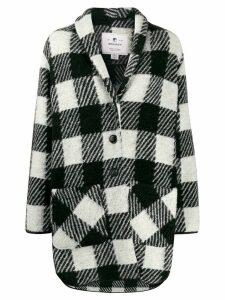 Woolrich check pattern coat - White