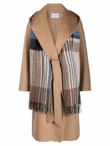 Forte Dei Marmi Couture scarf detail wide-lapel coat - Neutrals