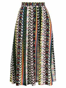 Être Cécile Earn Your Stripes Amelie silk skirt - Green