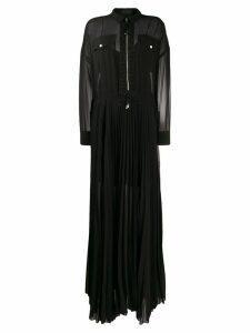 Diesel Black Gold long pleated shirt dress