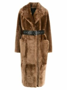 Common Leisure LOVE belted coat - Brown