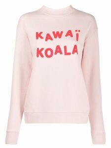 Être Cécile Kawai Koala boyfriend sweatshirt - Pink