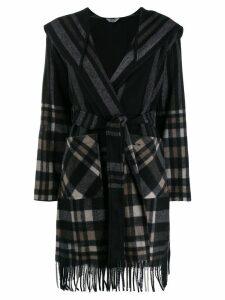 Liu Jo fringed hooded coat - Grey