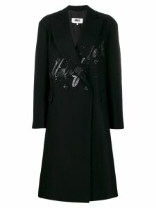 Mm6 Maison Margiela button-front splatter coat - 900 Black