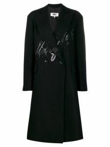 Mm6 Maison Margiela button-front splatter coat - 900 BLACK