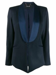 Styland contrast-lapel blazer - Blue