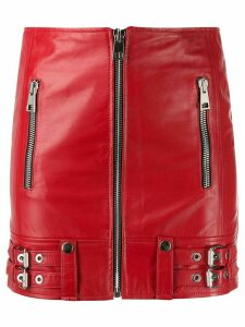 Manokhi zip detail skirt - Red