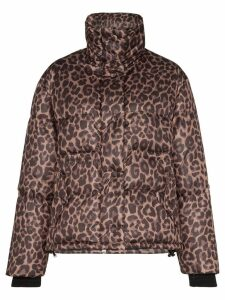 Golden Goose Yuri leopard-print padded jacket - Brown