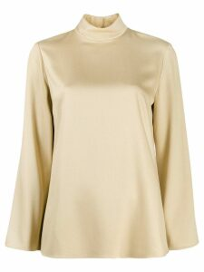 Theory high standing collar top - Neutrals