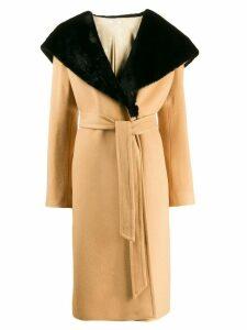 Lardini Cappotto midi coat - Neutrals