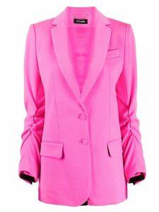 Styland ruched-detail blazer - Pink
