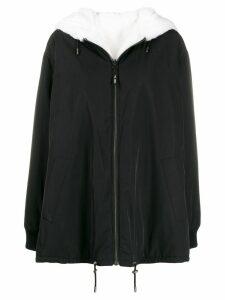 Yves Salomon reversible hooded coat - Black