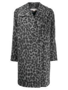 Michael Michael Kors leopard pattern coat - Grey