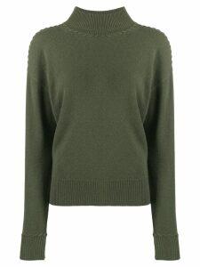 Theory rib-knit trimmed jumper - Green