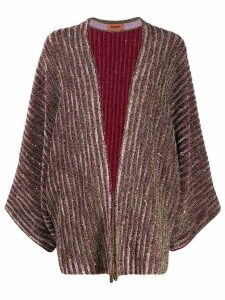 Missoni striped metallic cardi-coat - Pink