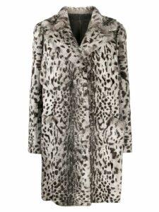 Salvatore Santoro leopard print coat - Neutrals