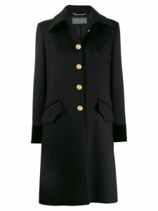 Alberta Ferretti single-breasted fitted coat - Black