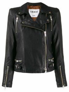 S.W.O.R.D 6.6.44 leather biker jacket - Black