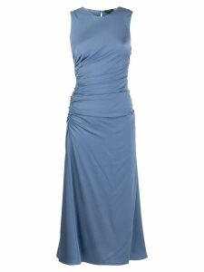 Theory sleeveless ruched flared dress - Blue