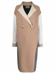 Lorena Antoniazzi double breasted midi coat - Neutrals