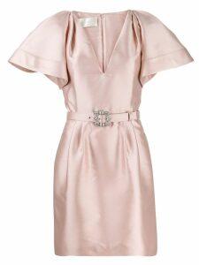 Alberta Ferretti belted mini dress - Pink