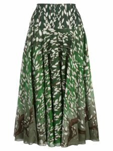 Samantha Sung Aster branch pattern skirt - Green