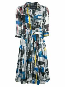 Samantha Sung Audrey abstract print dress - Multicolour