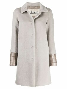 Herno layered sleeves coat - Grey