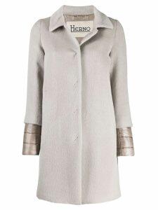 Herno layered sleeves coat - Grey