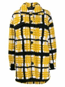 STAND STUDIO check oversized coat - Yellow