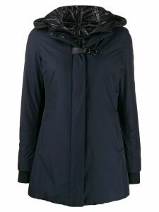 Fay short hooded parka - Blue