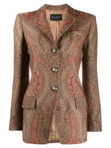 Etro single-breasted paisley blazer - Brown