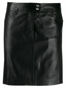 Alberta Ferretti panelled high-waisted skirt - Black