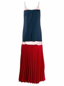 Atu Body Couture colour-block maxi dress - Blue