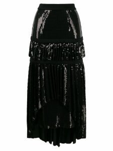Atu Body Couture asymmetric embellished skirt - Black