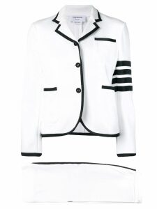Thom Browne 4-Bar Loopback Jersey Suit - White