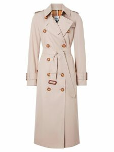 Burberry Cotton Gabardine Trench Coat - Brown
