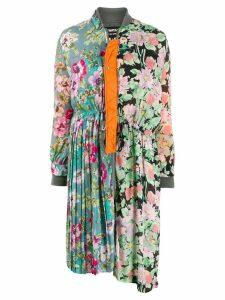 Junya Watanabe floral print coat - Black