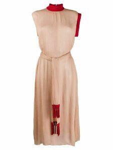 Atu Body Couture colour-block midi dress - Brown