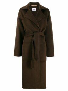Nanushka Alamo belted coat - Brown